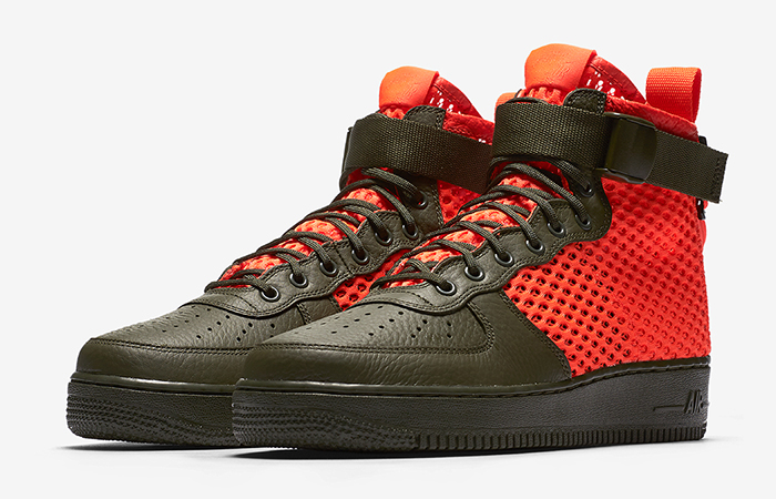 Nike Air Force 1 Special Field Khaki Orange AA7345-300 01