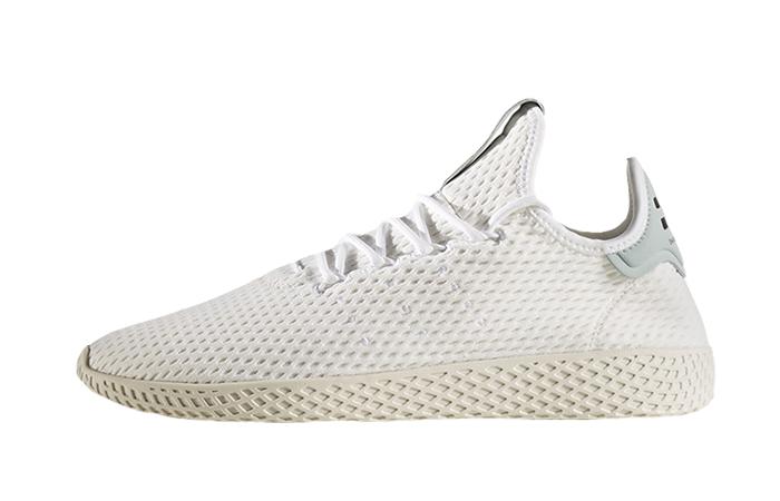 Pharrell x adidas Tennis Hu White Green 01