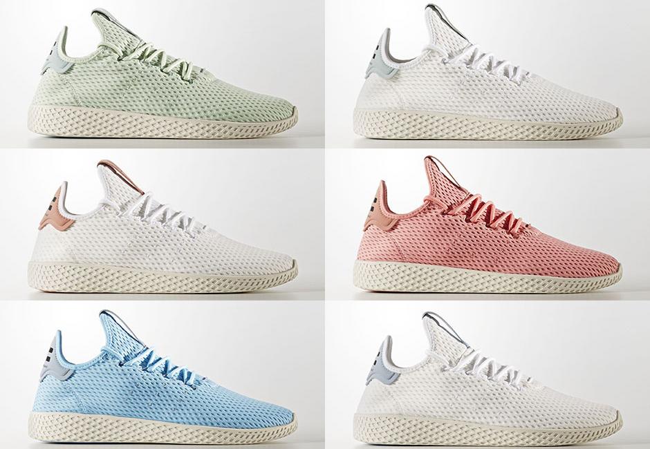 Six New Colourways of Pharrell William adidas Tennis Hu 3eebb49ae