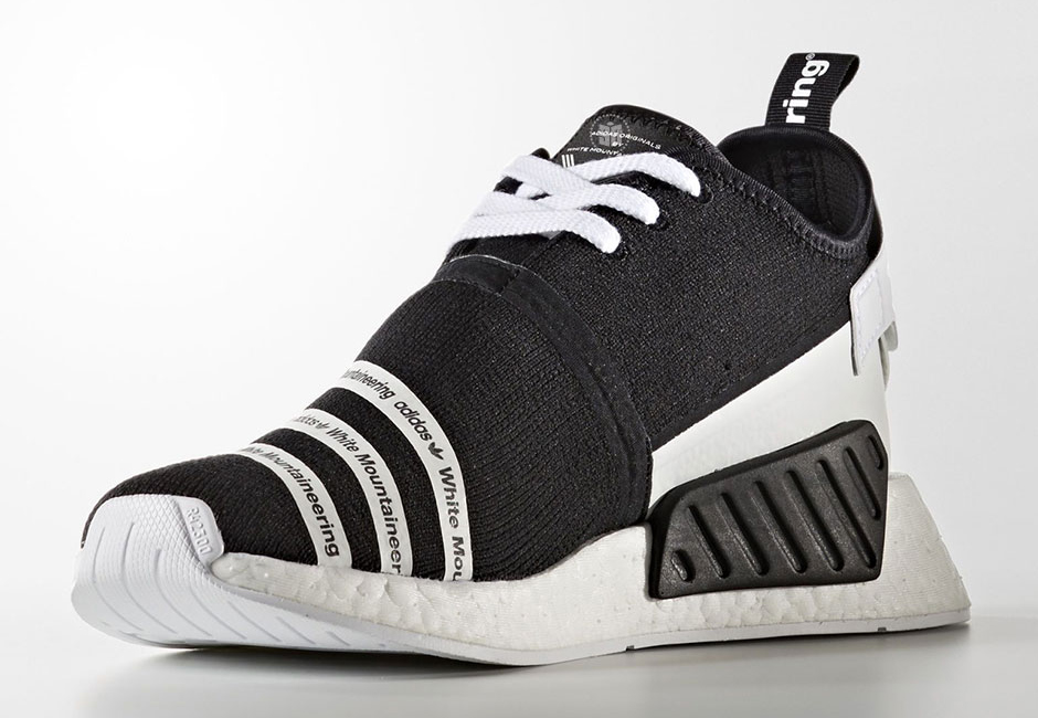check out 165fc b02b3 White Mountaineering x adidas NMD R2 in Black and Trace ...