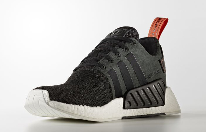 outlet store b2db0 ace75 adidas NMD R2 Black Future Harvest