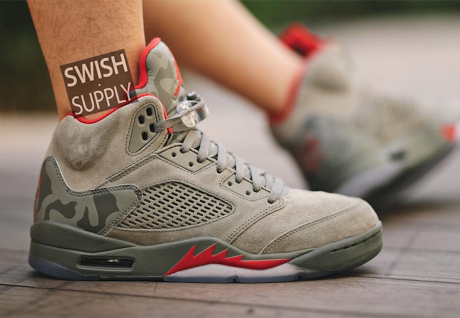 size 40 3ea9e 3bc2e Nike Air Jordan 5 Camo Release Date 136027-051 – Fastsole