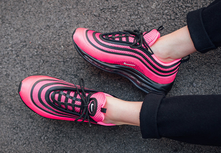 On Foot Look At The Nike Air Max 97 Ultra 17 Pink Fastsole