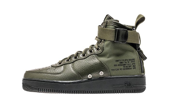 Nike Special Force Air Force 1 Mid Green Black 917753-300 Buy adidas NMD Nike Jordan VoporMax Sneakers Trainers in UK EU DE Europe Germany for Man and Women 04
