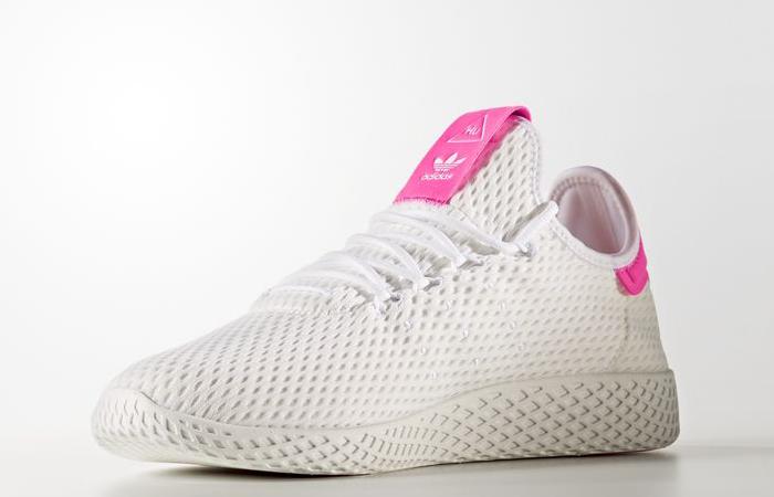Pharrell x adidas Tennis HU Pink White BY8714 03