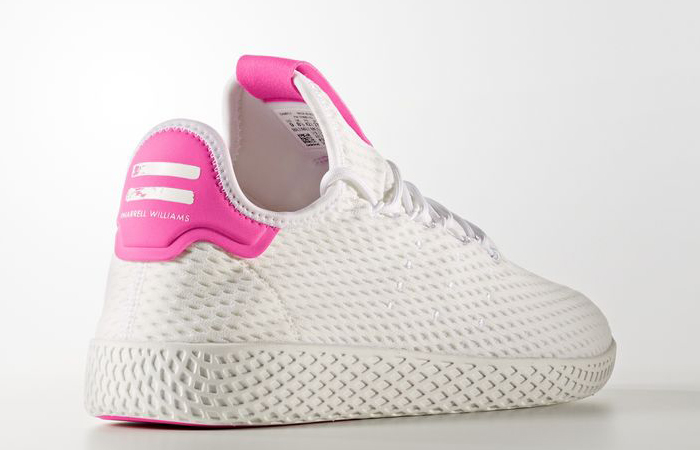 Pharrell x adidas Tennis HU Pink White BY8714 01