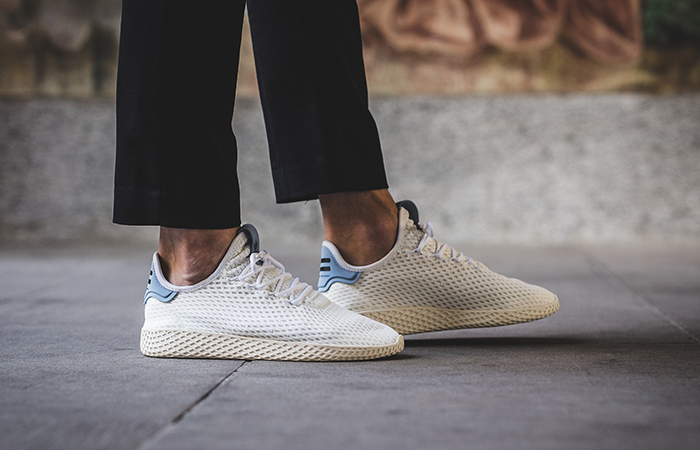Pharrell x adidas Tennis Hu White Blue BY8718 Buy adidas NMD Nike Jordan VoporMax Sneakers Trainers in UK EU DE Europe Germany for Man & Women FastSole 04
