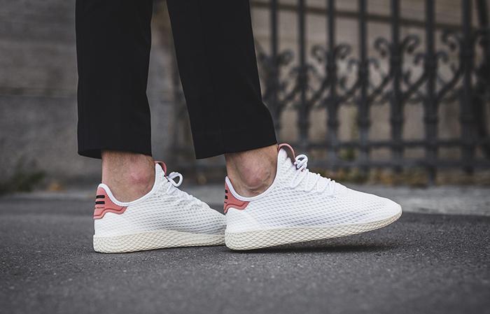 cf5ff4604 Pharrell x adidas Tennis Hu White Pink CP9763 Buy adidas NMD Nike Jordan  VoporMax Sneakers Trainers ...