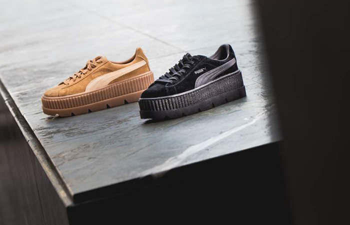 buy online f50e4 a2464 Puma x Fenty Cleated Creeper Suede Brown
