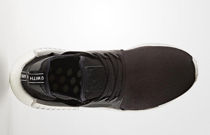 factory authentic 4e0da 71105 adidas NMD XR1 Black White Textile