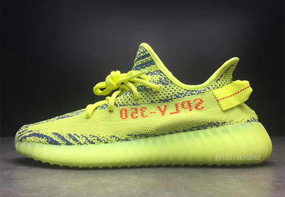 adidas Yeezy Boost 350 V2 Semi Frozen Yellow 01