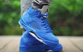 Nike Air Jordan 5 Blue Suede