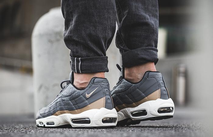 Nike Air Max 90 Premium Wool in Grey & Tan | HYPEBEAST