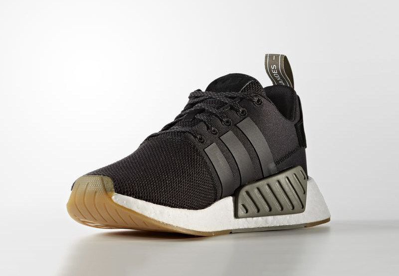 adidas NMD R2 Black Red Power102Jamz