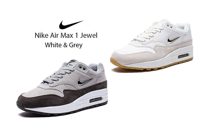 First Look at the Upcoming Nike Air Max 1 Jewel White and Grey AA0512-100 Feature