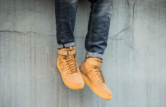 official photos 1b5dc 935ce Nike Air Force 1 High 07 LV8 Flax 882096-200 Buy New Sneakers Trainers FOR  ...
