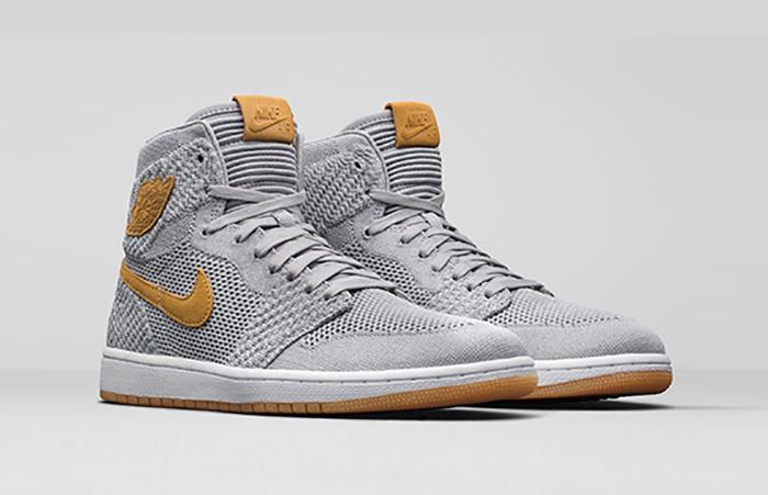 Nike Air Jordan 1 High Flyknit Wolf Grey Official Look 919704-025 Sneaker Release Date in UK EU DE FT