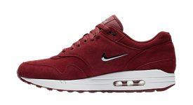 Nike Air Max 1 Jewel Red Suede 918354-600 Buy New Sneakers Trainers FOR Man Women in United Kingdom UK Europe EU Germany DE 04