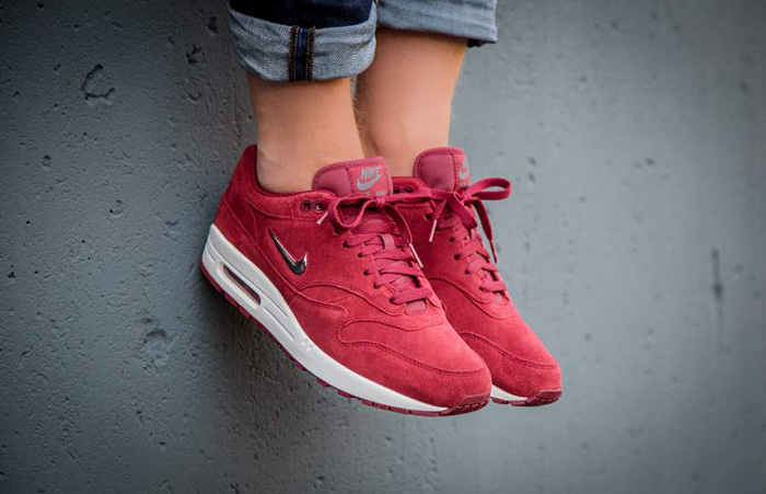 official photos cb846 b599e ... Nike Air Max 1 Jewel Red Suede 918354-600 Buy New Sneakers Trainers FOR  Man ...