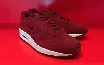 Nike Air Max 1 Jewel Red Suede First Look 918354-600 Buy New Sneakers Trainers FOR Man Women in United Kingdom UK Europe EU Germany DE 01