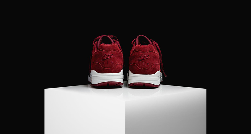Nike Air Max 1 Jewel Red Suede First Look 918354-600 Buy New Sneakers Trainers FOR Man Women in United Kingdom UK Europe EU Germany DE 02