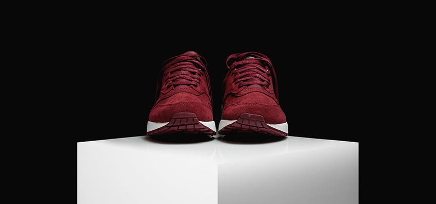 Nike Air Max 1 Jewel Red Suede First Look 918354-600 Buy New Sneakers Trainers FOR Man Women in United Kingdom UK Europe EU Germany DE 03