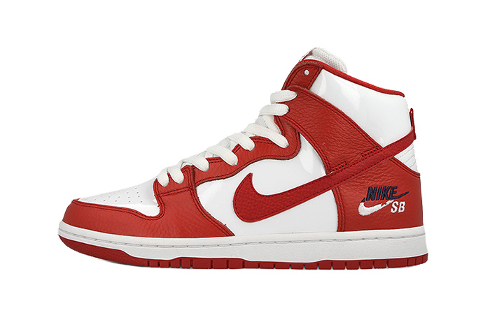 443899e7a Nike SB Dunk High Logo Red 854851-661