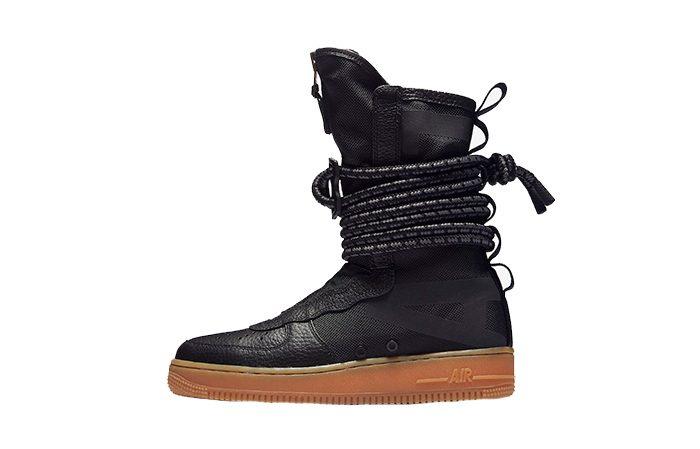 Nike SF Air Force 1 Hi Boot Black Gum AA1128 001