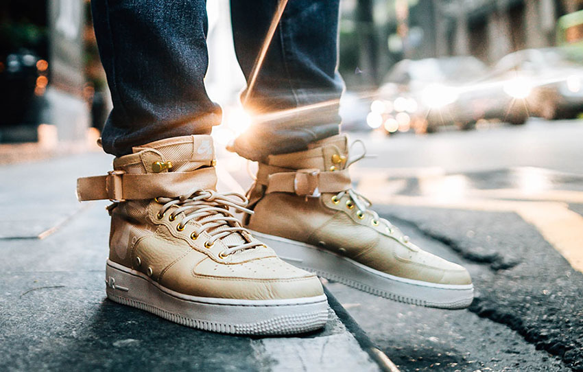 508ed47f0a87 Nike Special Field Air Force 1 Mid Mushroom On Foot Look – Fastsole