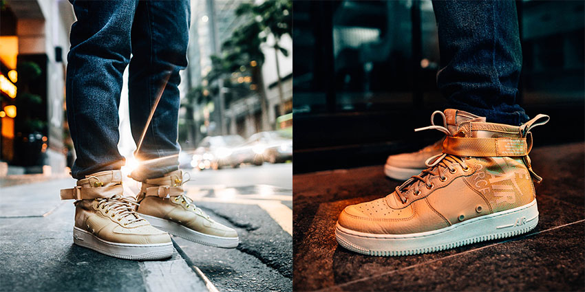 save off 651d4 a4f39 Nike Special Field Air Force 1 Mid Mushroom On Foot Look 04