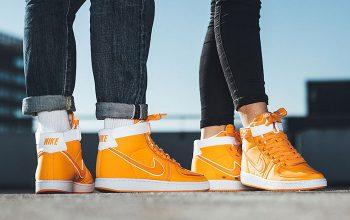 Nike Vandal High Supreme Doc Brown On-Foot Look AH8605-800 Buy New Sneakers Trainers FOR Man Women in United Kingdom UK Europe EU Germany DE Feature