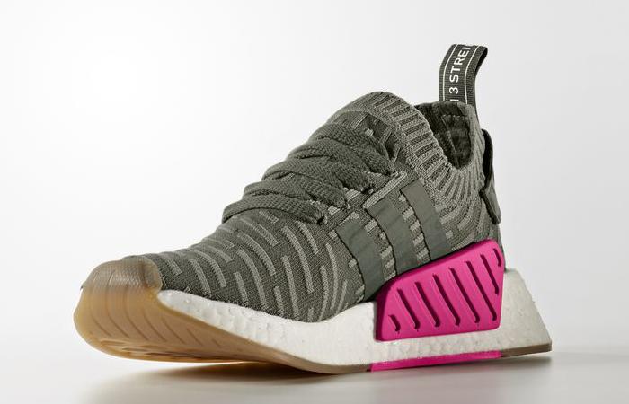 adidas NMD R2 Primeknit Green Pink BY9953 01