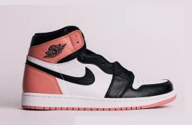 First Look at the Nike Air Jordan 1 High Rust Pink 861428-101 Buy New Sneakers Trainers FOR Man Women in United Kingdom UK Europe EU Germany DE FT