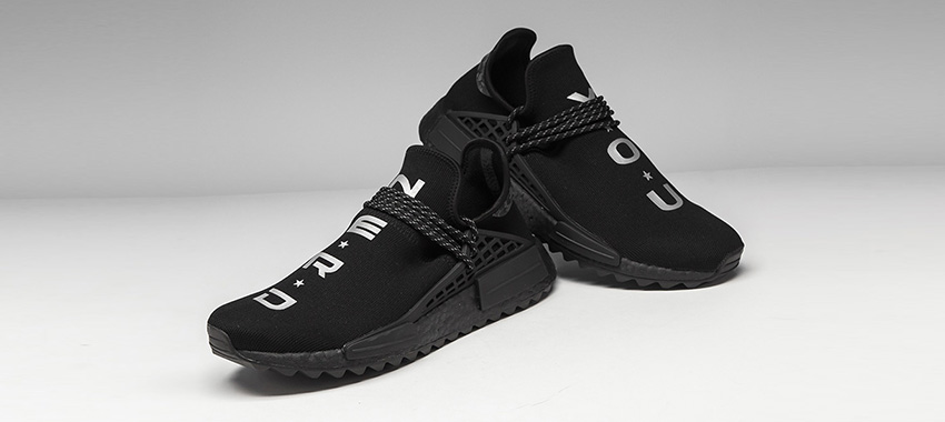N.E.R.D. x adidas NMD Hu Trail Black is Now AvailableBuy New Sneakers Trainers FOR Man Women in United Kingdom UK Europe EU Germany DE 02