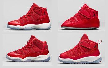 Nike Air Jordan 11 Win Like 96 Red Release Date 378037-623 Buy New Sneakers Trainers FOR Man Women in United Kingdom UK EU DE Sneaker Release Date FT