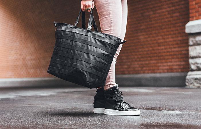 online store ce1f2 0e29e Nike SF-AF1 Black Premium Womens AJ0963-001