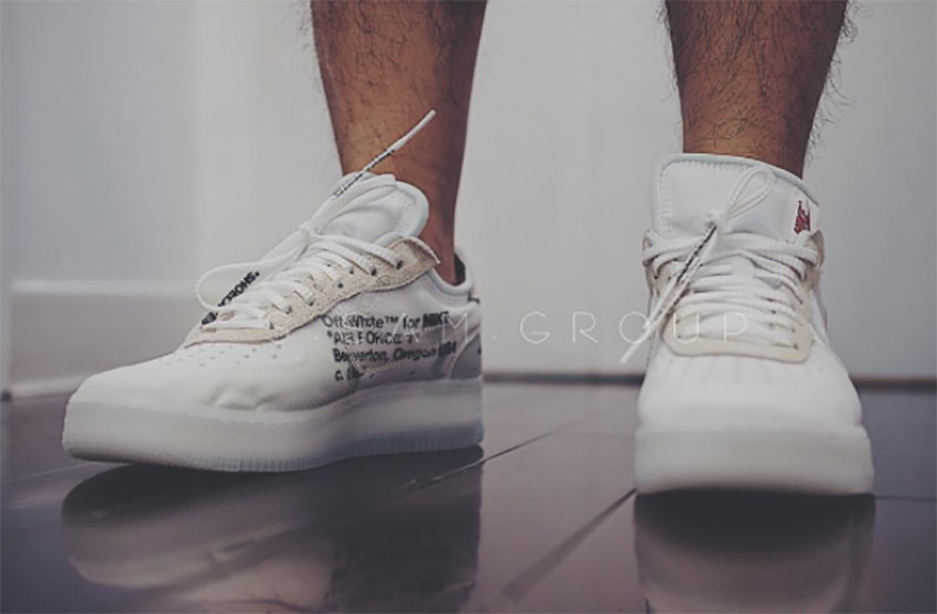 Mirar atrás Disparates Muchas situaciones peligrosas  On Foot Look at the Off-White x Nike Air Force 1 Low White – Fastsole