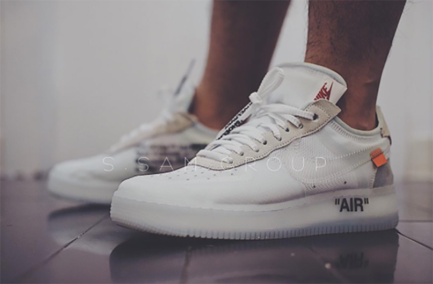 On Foot Look at the Off White x Nike Air Force 1 Low White