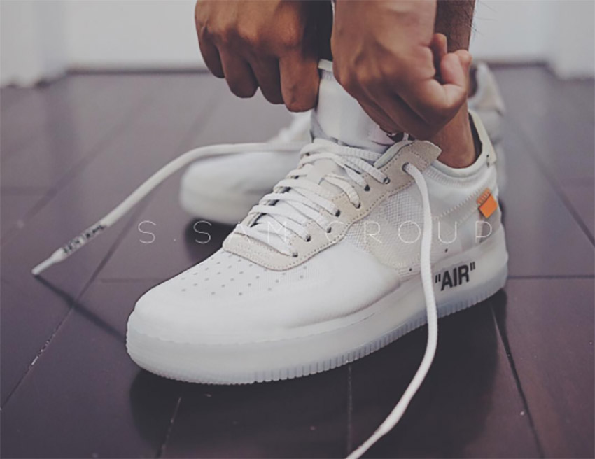 On Foot Look At The Off White X Nike Air Force 1 Low White Fastsole