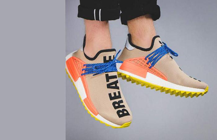90112c40221fc Pharrell Williams x adidas NMD Hu Trail Sun Glow AC7361 Buy New Sneakers  Trainers FOR Man ...