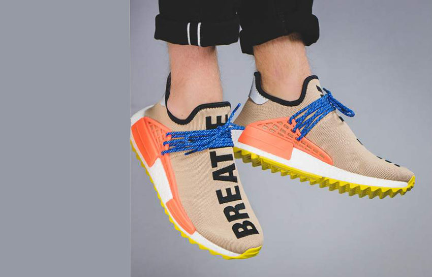 Adidas X Pharrell Williams NMD HU Human Race Orange White