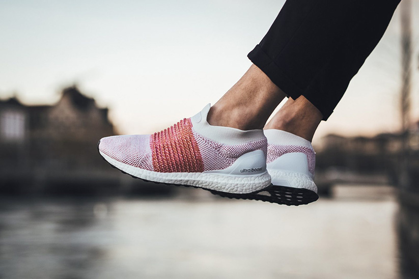 adidas Ultra Boost Laceless Scarlet On