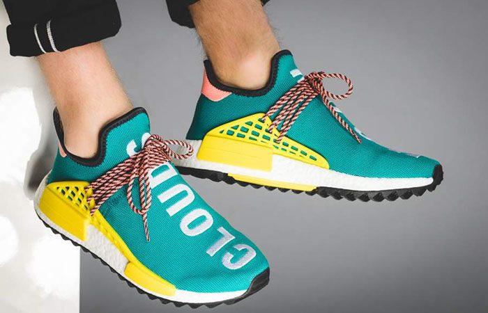 Pharrell Williams x adidas NMD Hu Trail Green AC7188 Buy New Sneakers Trainers FOR Man Women in UK Europe EU DE Sneaker Release Date 06