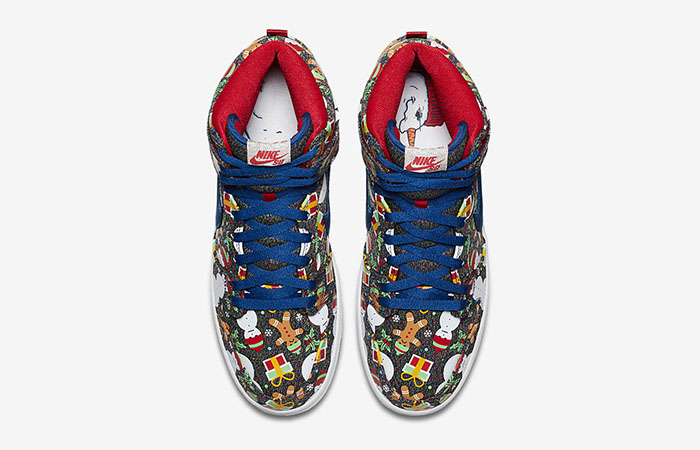 Concepts Nike SB Dunk High Ugly Sweater Christmas 881758-446 Buy New Sneakers Trainers FOR Man Women in United Kingdom UK Europe EU Germany DE 03