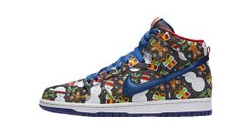 Concepts Nike SB Dunk High Ugly Sweater Christmas 881758-446 Buy New Sneakers Trainers FOR Man Women in United Kingdom UK Europe EU Germany DE 04