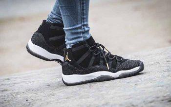 First Look at the Air Jordan 11 PRM Heiress Black Stingray 852625-030 Sneakers Trainers FOR Man Women in United Kingdom UK EU DE FT