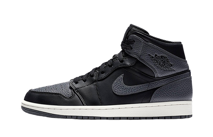 1bf2a776f6bb68 ... Jordan 1 Mid Tumbled Leather Grey 554724-041 Buy New Sneakers Trainers  FOR Man Women ...