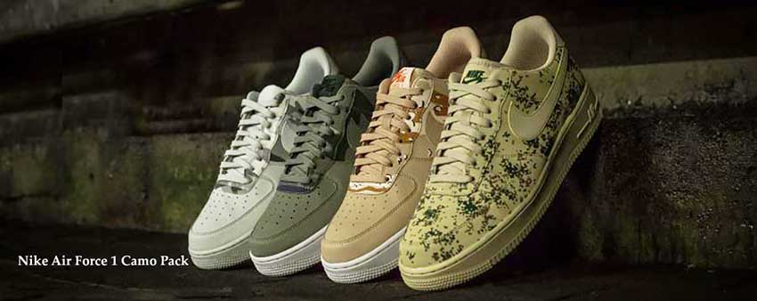 04b39ef5fa Nike Air Force 1 Country Camo Pack – £50/Each Pair