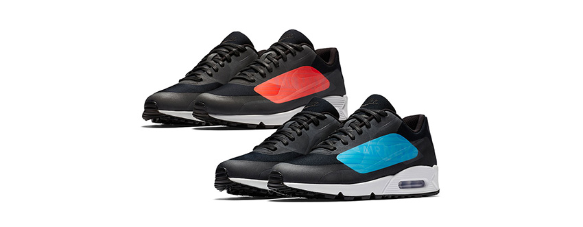 best service 43f61 c0975 Nike Air Max 90 NS GPX Infrared and Laser Blue are going to make your  Winter outfits glow this December! Both the kicks are part of Big Logo  launches and ...