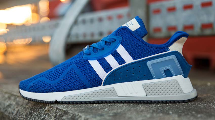 hot sale online 77941 a6dcc adidas EQT Cushion ADV Blue Pack in Details – Fastsole